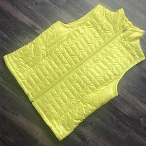 {L} Bright Yellow Westbound Puffer Vest